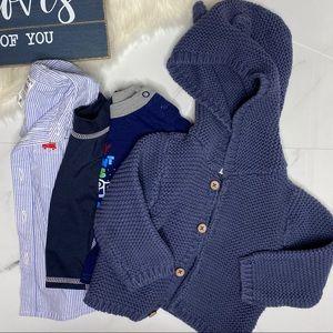 🎉Bundle baby boy jacket top swim top polo B2-14
